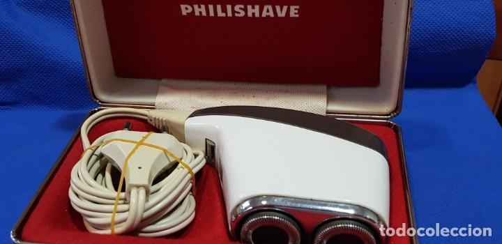 Antigüedades: Máquina de afeitar eléctrica (AÑOS 60) PHILISHAVE SC 9040 - Foto 3 - 192506786