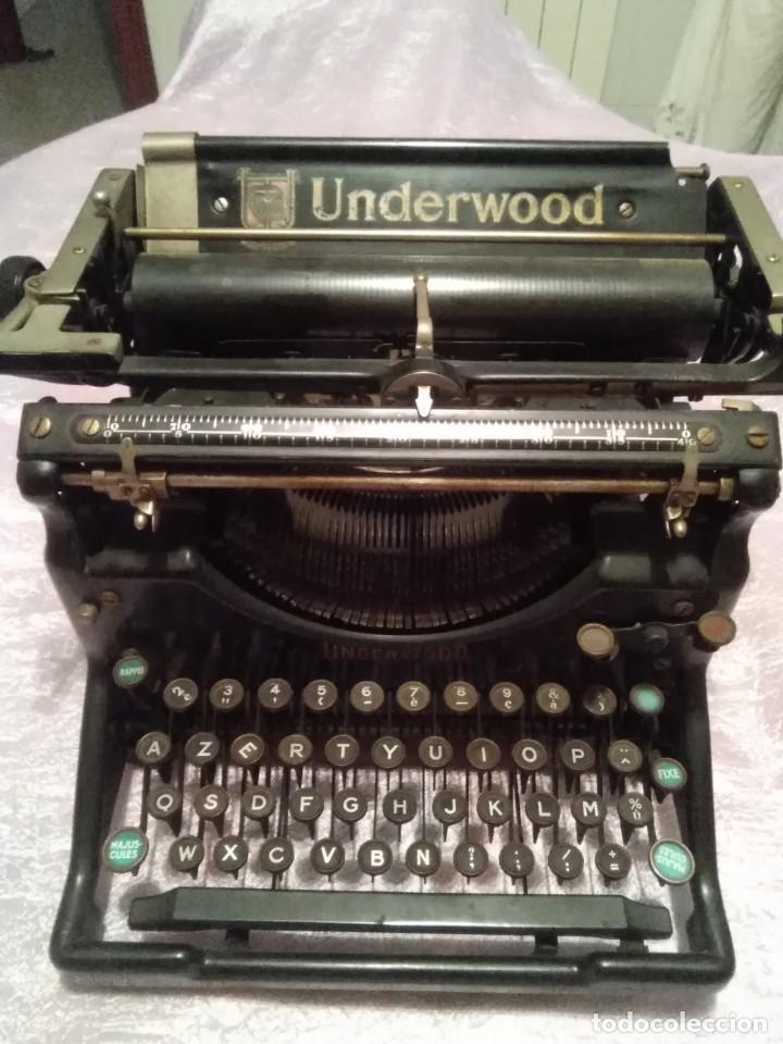MAQUINA DE ESCRIBIR UNDERWOOD MADE IN USA ENVIO PENINSULAR POR MENSAJERIA INCLUIDO (Antigüedades - Técnicas - Máquinas de Escribir Antiguas - Underwood)
