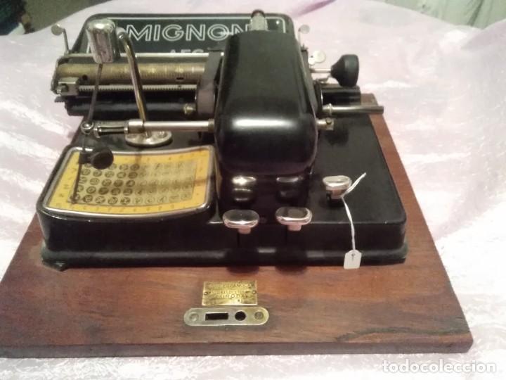 MAQUINA DE ESCRIBIR MIGNON AEG ALEMANA ENVIO PENINSULAR POR MENSAJERIA INCLUIDO (Antigüedades - Técnicas - Máquinas de Escribir Antiguas - Mignon)