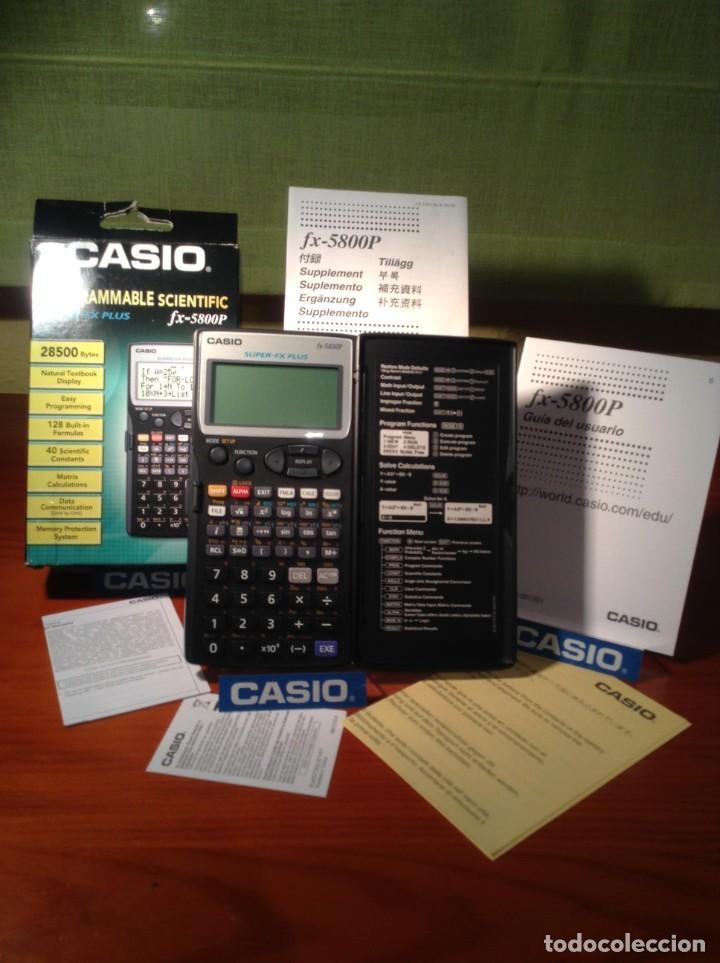 CALCULADORA CASIO FX 5800P VINTAGE ¡¡NUEVA!! (Antigüedades - Técnicas - Aparatos de Cálculo - Calculadoras Antiguas)