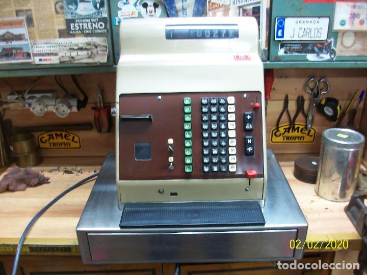 ANTIGUA CAJA REGISTRADORA HUGIN-FUNCIONA (Antigüedades - Técnicas - Aparatos de Cálculo - Cajas Registradoras Antiguas)