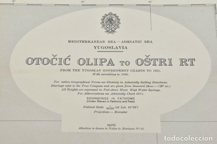 Antigüedades: COLECCION DE CARTAS NAUTICAS MARINAS 105x71 cm - Foto 3 - 192759986