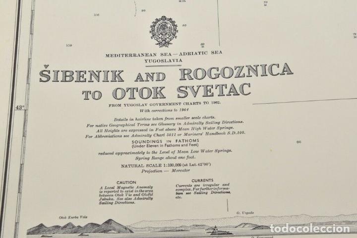 Antigüedades: COLECCION DE CARTAS NAUTICAS MARINAS 105x71 cm - Foto 5 - 192759986