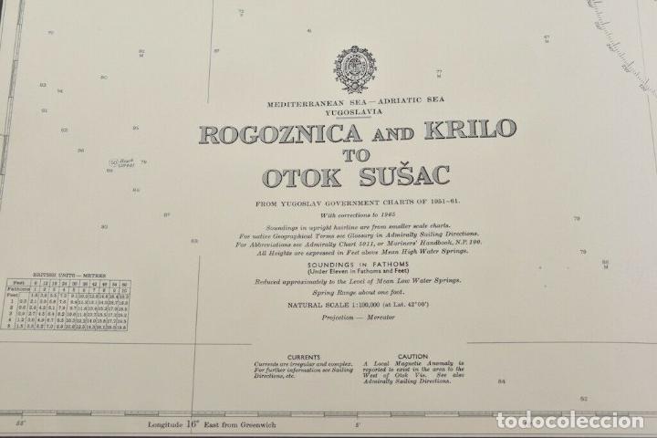 Antigüedades: COLECCION DE CARTAS NAUTICAS MARINAS 105x71 cm - Foto 6 - 192759986