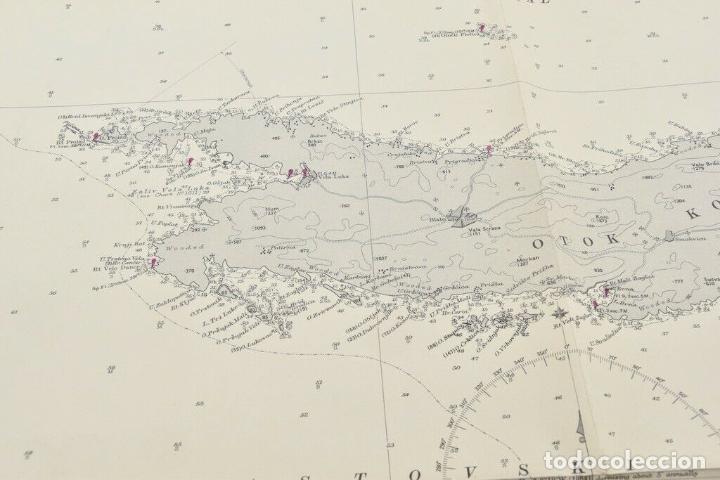 Antigüedades: COLECCION DE CARTAS NAUTICAS MARINAS 105x71 cm - Foto 8 - 192759986