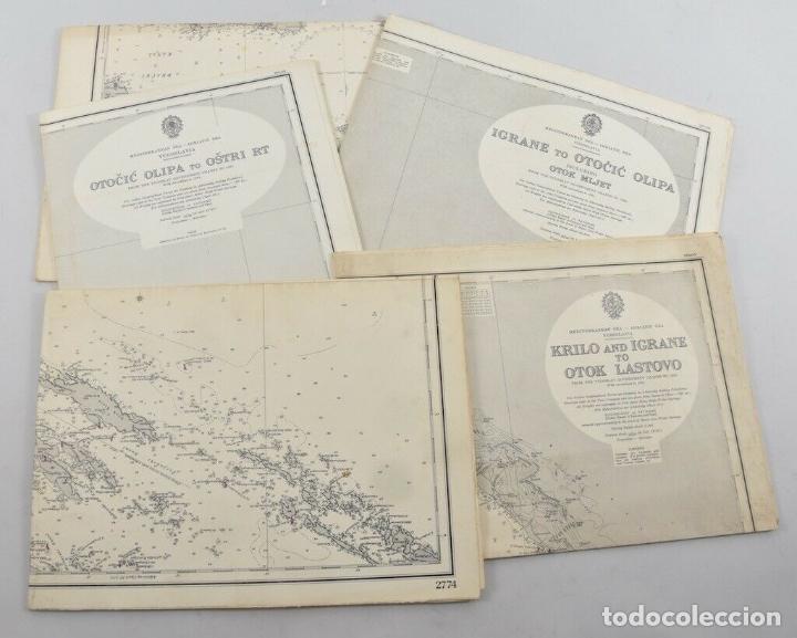COLECCION DE CARTAS NAUTICAS MARINAS 105X71 CM (Antigüedades - Antigüedades Técnicas - Marinas y Navales)