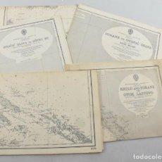 Antigüedades: COLECCION DE CARTAS NAUTICAS MARINAS 105X71 CM. Lote 192759986