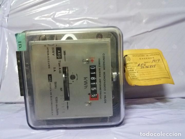 Antigüedades: ANTIGUO CONTADOR ELECTRICO AEG VINTAGE AÑOS 70 MUY DECORATIVO - Foto 12 - 192781273