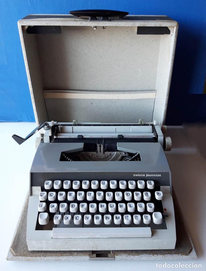 SWISSA JEUNESSE, MÁQUINA DE ESCRIBIR DE LOS AÑOS 60, CON MALETÍN ORIGINAL (Antigüedades - Técnicas - Máquinas de Escribir Antiguas - Otras)