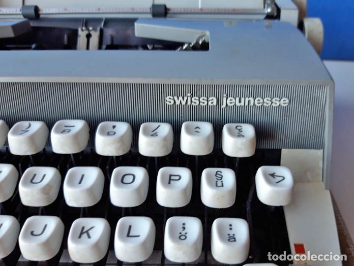 Antigüedades: Swissa Jeunesse, máquina de escribir de los años 60, con maletín original - Foto 4 - 192817041