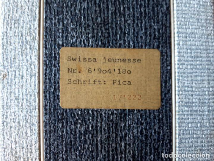 Antigüedades: Swissa Jeunesse, máquina de escribir de los años 60, con maletín original - Foto 7 - 192817041