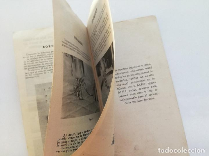 Antigüedades: ALFA MODELO 20 (A) // INSTRUCCIONES DE ANTIGUA MAQUINA DE COSER // EIBAR (ESPAÑA) - Foto 7 - 192882957