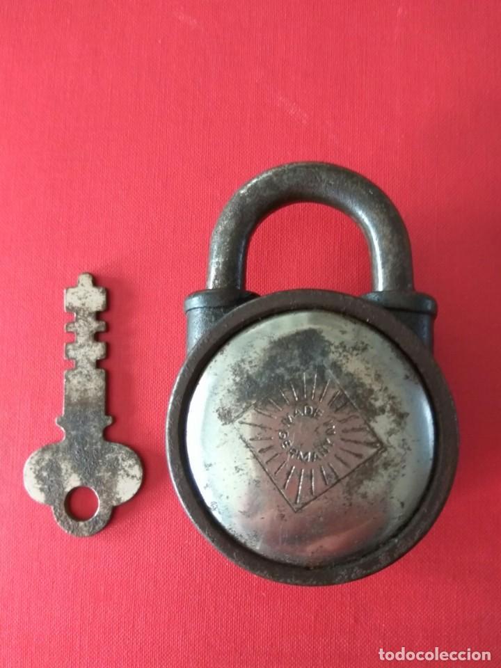 Antigüedades: ANTIGUO CANDADO MADE IN GERMANY, AÑOS 50-60 - Foto 2 - 192897316