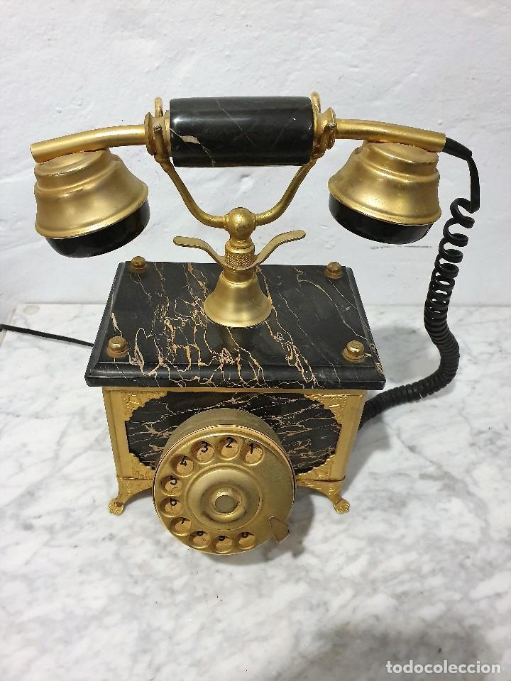 Teléfonos: TELEFONO ANTIGUO MARMOL Y LATON - Foto 2 - 192976467