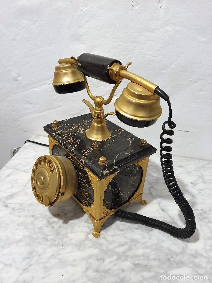Teléfonos: TELEFONO ANTIGUO MARMOL Y LATON - Foto 3 - 192976467
