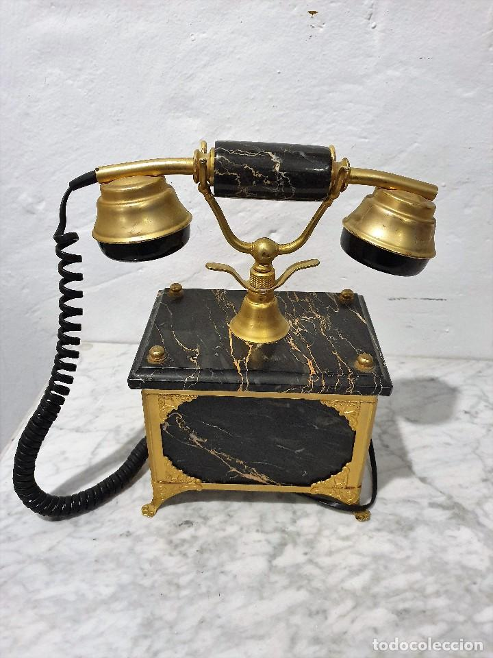 Teléfonos: TELEFONO ANTIGUO MARMOL Y LATON - Foto 4 - 192976467