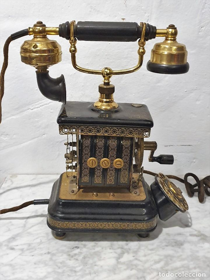 TELEFONO ANTIGUO EXPOGA DANMARK.MOD E 9 (Antigüedades - Técnicas - Teléfonos Antiguos)