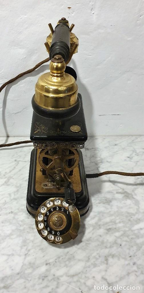 Teléfonos: TELEFONO ANTIGUO EXPOGA DANMARK.MOD E 9 - Foto 2 - 192977788