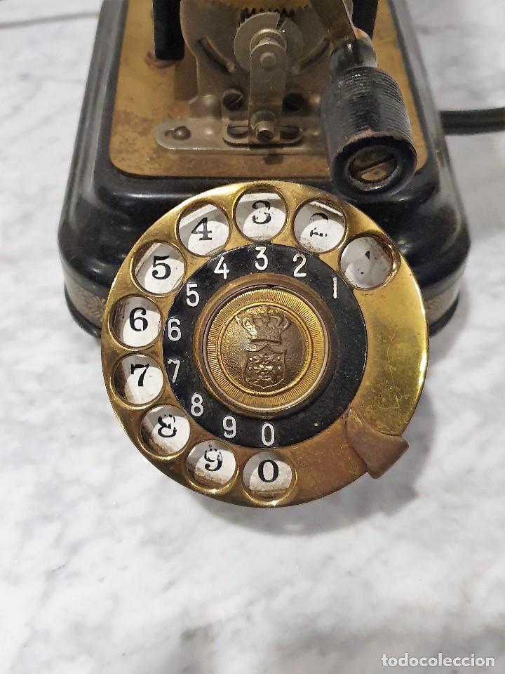Teléfonos: TELEFONO ANTIGUO EXPOGA DANMARK.MOD E 9 - Foto 4 - 192977788