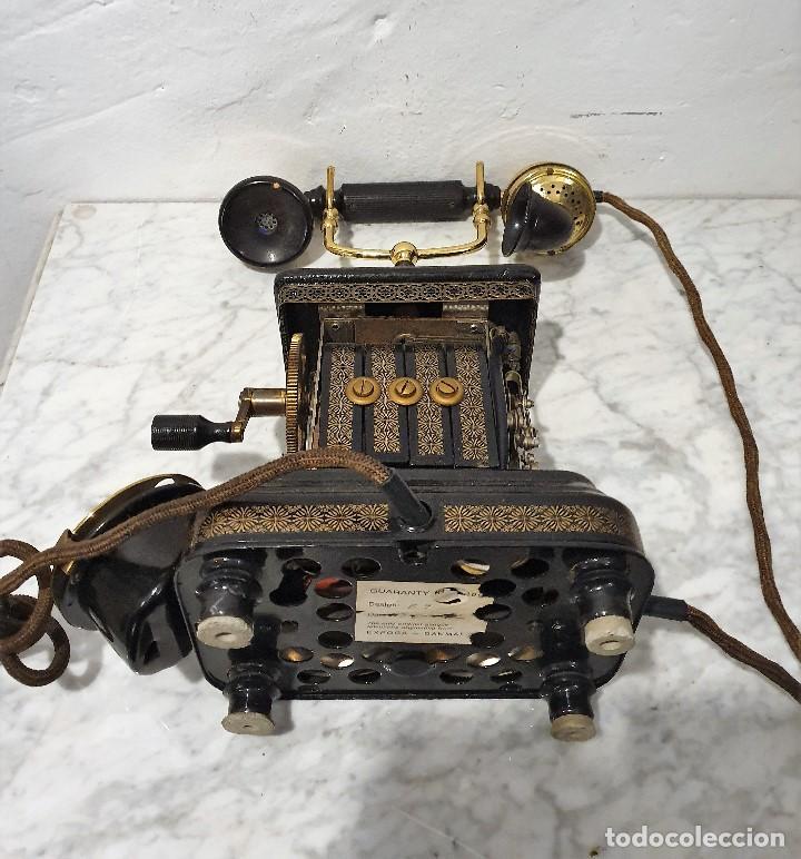 Teléfonos: TELEFONO ANTIGUO EXPOGA DANMARK.MOD E 9 - Foto 8 - 192977788