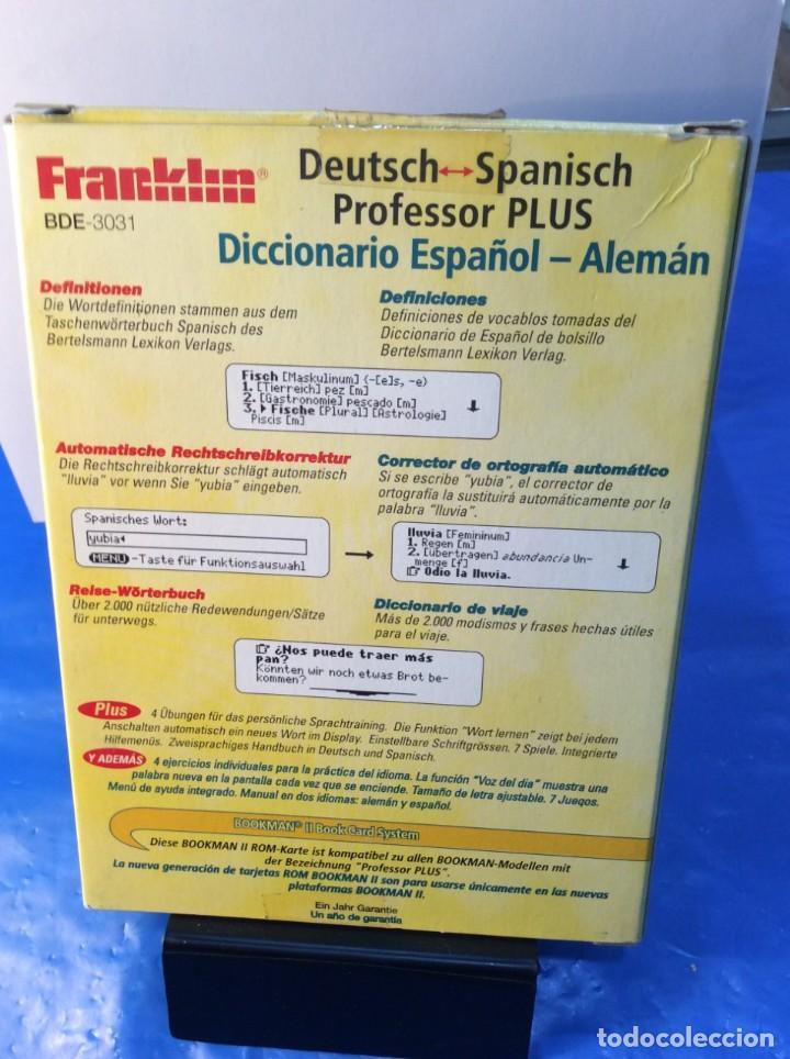Antigüedades: TRADUCTOR FRANKLIN BOOKMAN BDE 3031 ESPAÑOL {{ }} ALEMAN ¡ NUEVO ! DICCIONARIO - Foto 3 - 193026258