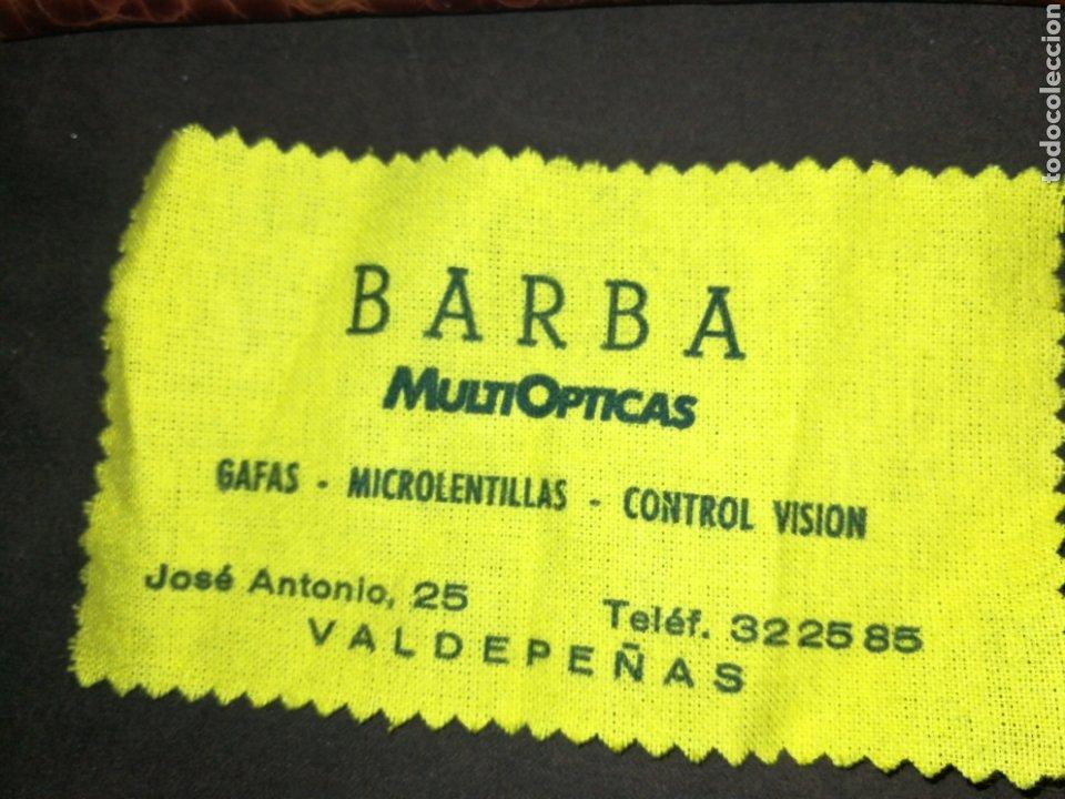 Antigüedades: GAFAS VINTAGE BAQUELITA INDO, CON FUNDA Y GAMUZA LIMPIADORA - Foto 6 - 193038561