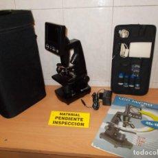 Antigüedades: ENVIO CON TC:6€ PARA REVISARLO:MICROSCOPIO BRESSER CON LCD EN SU ESTUCHE Y CON ACCESORIOS.LEER BIEN. Lote 193065640