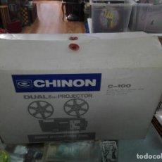 Antigüedades: PROYECTOR SUPER 8 CHINON C-100 . FUNCIONANDO CON CAJA-CASI NUEVO. Lote 193070516
