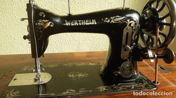 MÁQUINA DE COSER WERTHEIM ANTIGUA Y MODELO RARO Y POCO HABITUAL (Antigüedades - Técnicas - Máquinas de Coser Antiguas - Wertheim )
