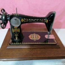 Antigüedades: MÁQUINA DE COSER SINGER. Lote 193110305