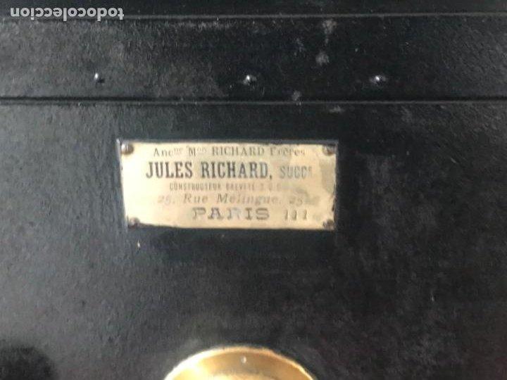 Antigüedades: LINTERNA MÁGICA JULES RICARD PARIS DE GRAN TAMAÑO FINALES DEL S.XIX. VER FOTOS ANEXAS. - Foto 2 - 193201010