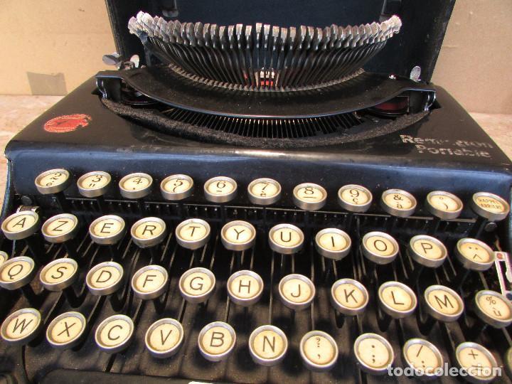 Antigüedades: Máquina de escribir REMINGTON del año 1929. Portátil. Con maleta. Funciona - Foto 5 - 193205047