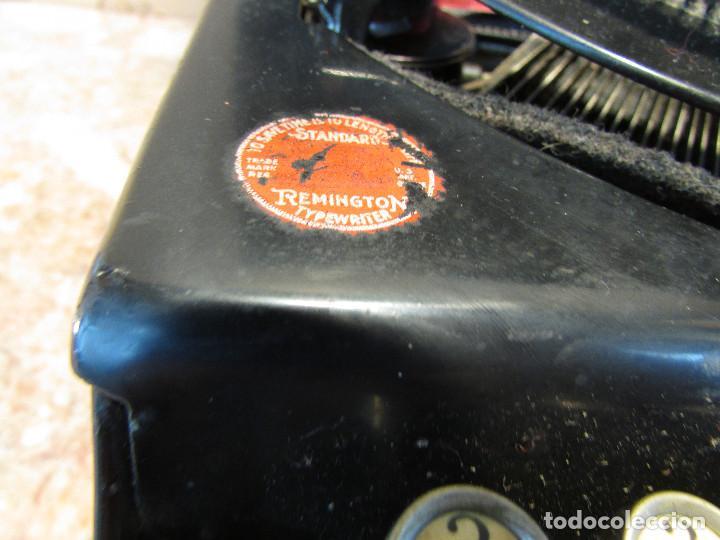 Antigüedades: Máquina de escribir REMINGTON del año 1929. Portátil. Con maleta. Funciona - Foto 7 - 193205047