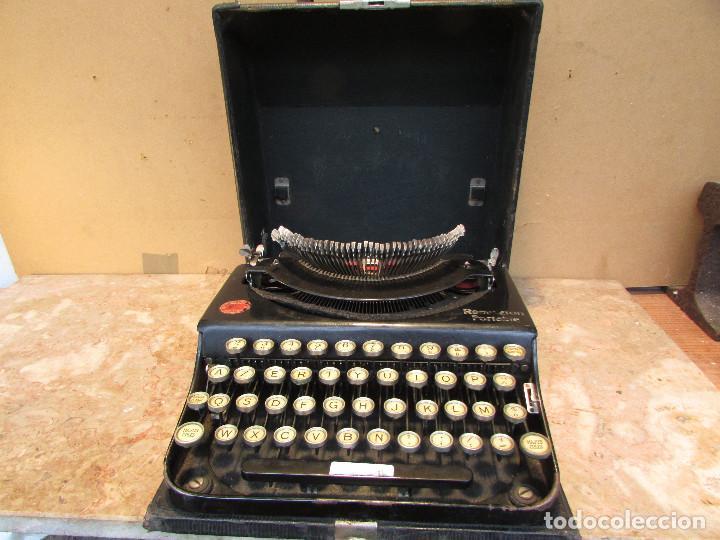 MÁQUINA DE ESCRIBIR REMINGTON DEL AÑO 1929. PORTÁTIL. CON MALETA. FUNCIONA (Antigüedades - Técnicas - Máquinas de Escribir Antiguas - Remington)