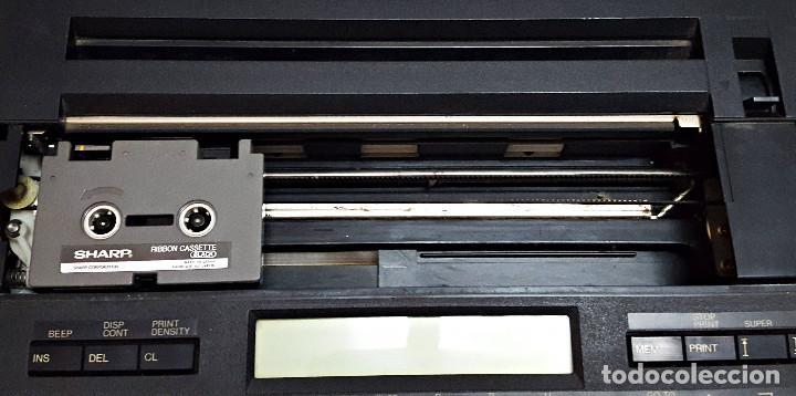 Antigüedades: Maquina de escribir electronica SHARP PA-1050. - Foto 3 - 193267837