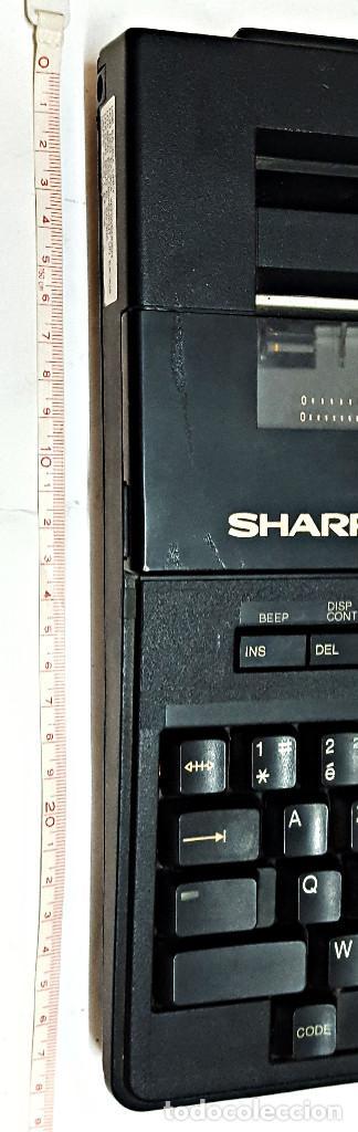 Antigüedades: Maquina de escribir electronica SHARP PA-1050. - Foto 15 - 193267837
