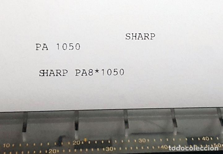 Antigüedades: Maquina de escribir electronica SHARP PA-1050. - Foto 17 - 193267837