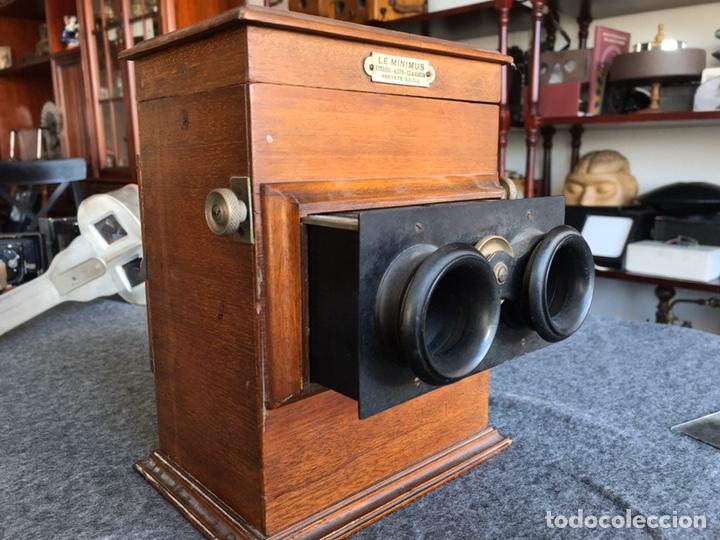 Antigüedades: Visor stereo. LE MINIMUS Stereo auto classeur Brevete S.G.P.G Lucien Bize 1907 - Foto 2 - 193268165