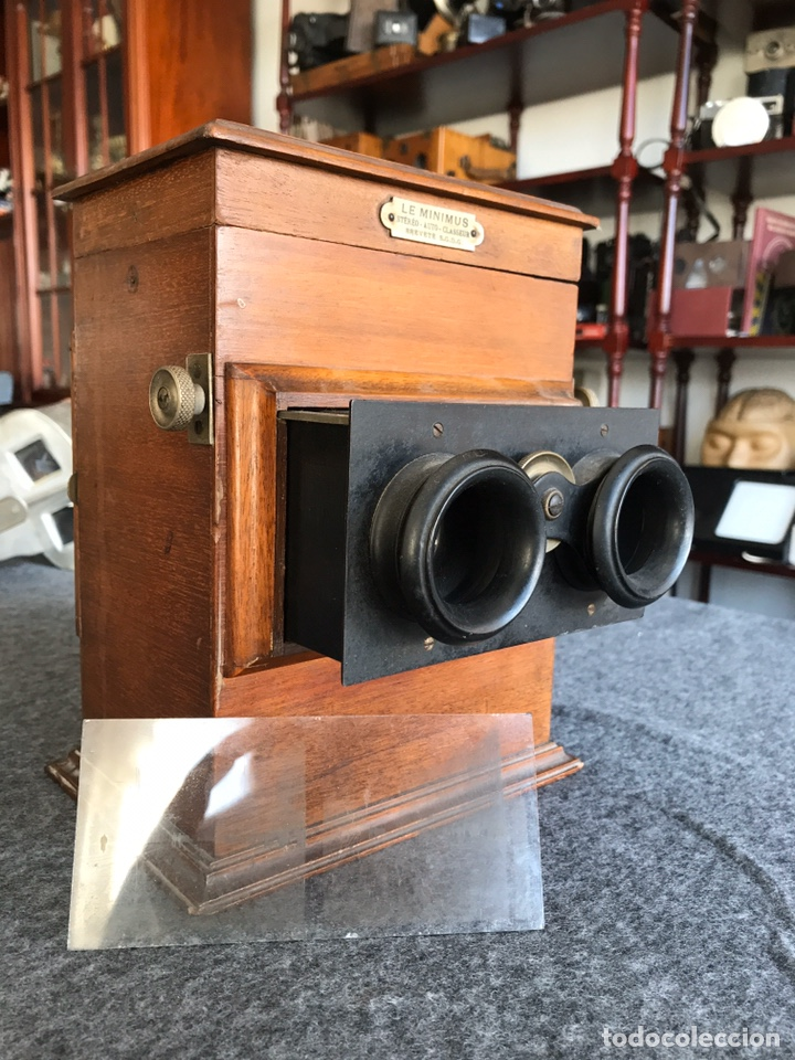 Antigüedades: Visor stereo. LE MINIMUS Stereo auto classeur Brevete S.G.P.G Lucien Bize 1907 - Foto 3 - 193268165