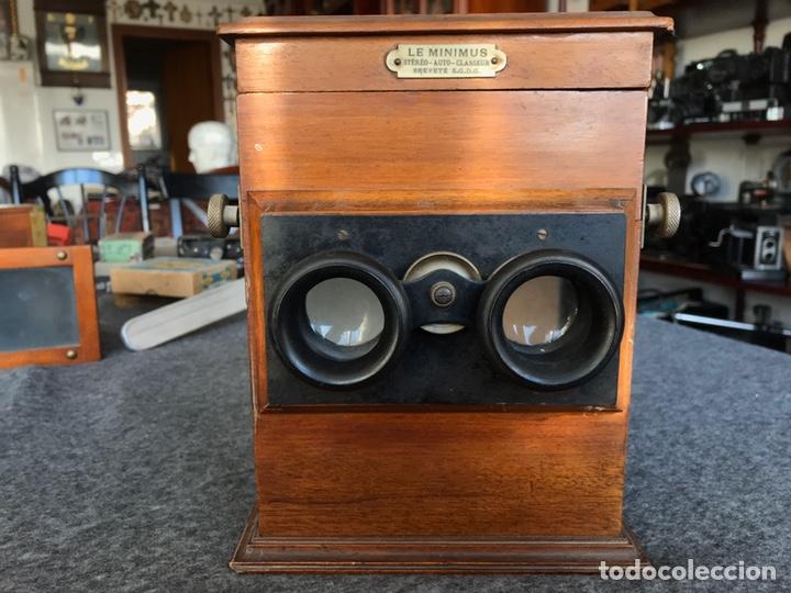 Antigüedades: Visor stereo. LE MINIMUS Stereo auto classeur Brevete S.G.P.G Lucien Bize 1907 - Foto 4 - 193268165