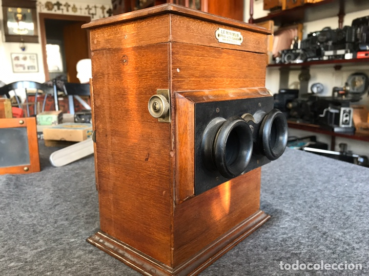 Antigüedades: Visor stereo. LE MINIMUS Stereo auto classeur Brevete S.G.P.G Lucien Bize 1907 - Foto 6 - 193268165