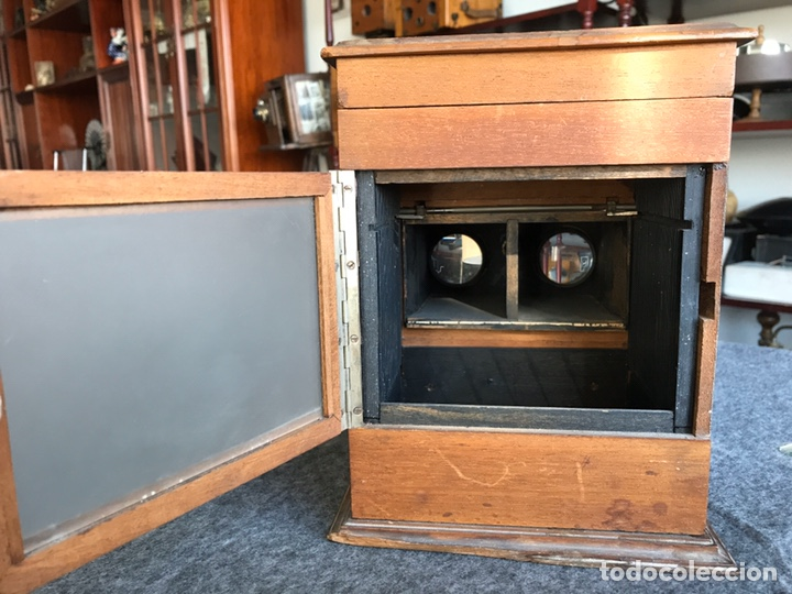 Antigüedades: Visor stereo. LE MINIMUS Stereo auto classeur Brevete S.G.P.G Lucien Bize 1907 - Foto 12 - 193268165