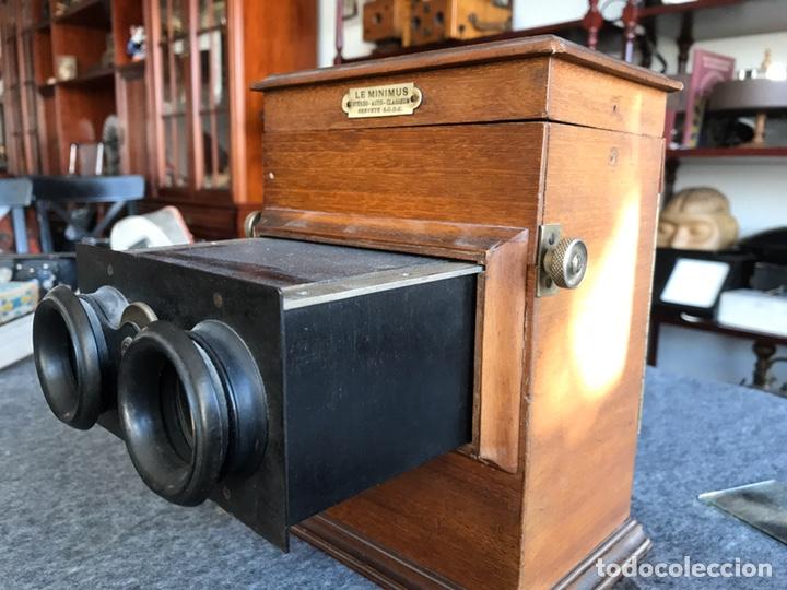 Antigüedades: Visor stereo. LE MINIMUS Stereo auto classeur Brevete S.G.P.G Lucien Bize 1907 - Foto 13 - 193268165