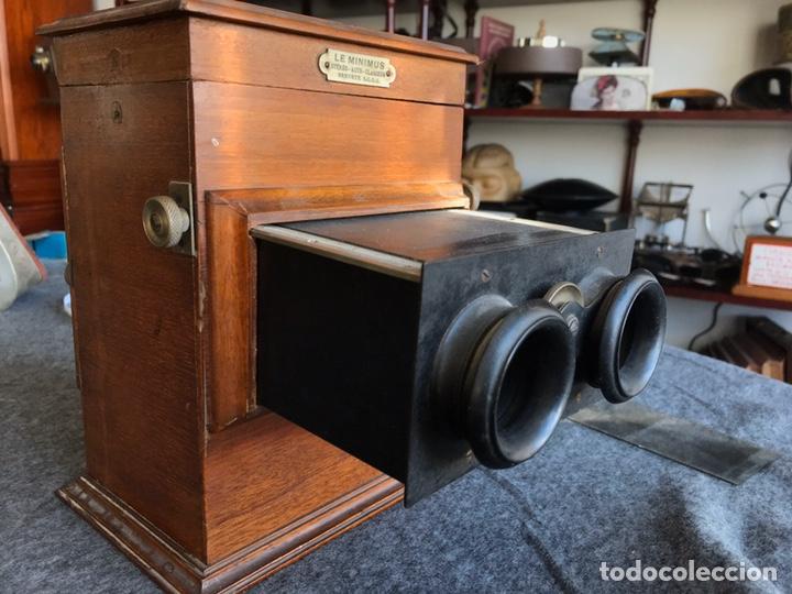 Antigüedades: Visor stereo. LE MINIMUS Stereo auto classeur Brevete S.G.P.G Lucien Bize 1907 - Foto 15 - 193268165