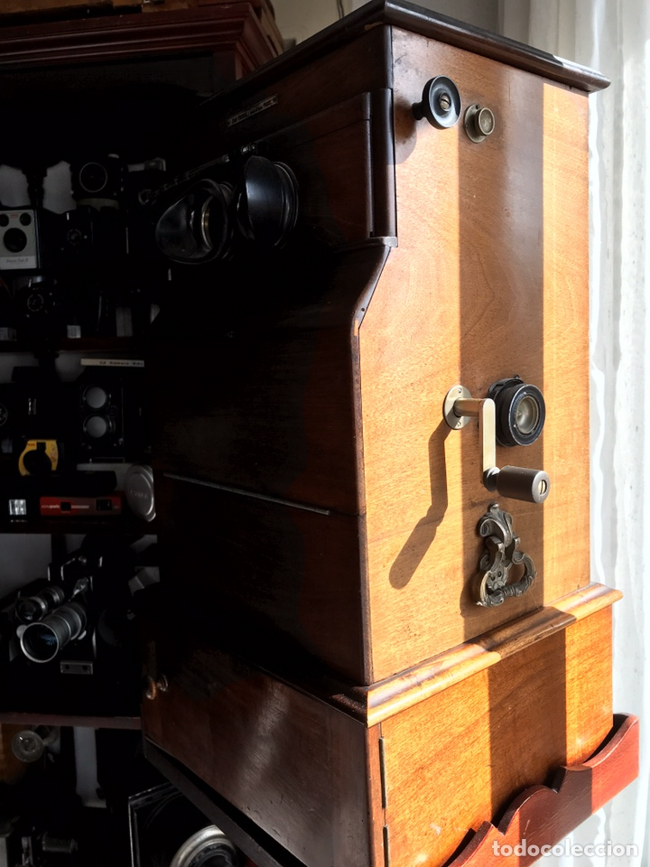 Antigüedades: Visor Estereoscopico con pie y placas de cristal auto classeur stereo 1900 - Foto 4 - 193271421