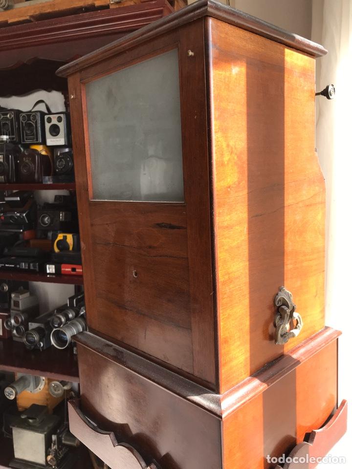 Antigüedades: Visor Estereoscopico con pie y placas de cristal auto classeur stereo 1900 - Foto 5 - 193271421