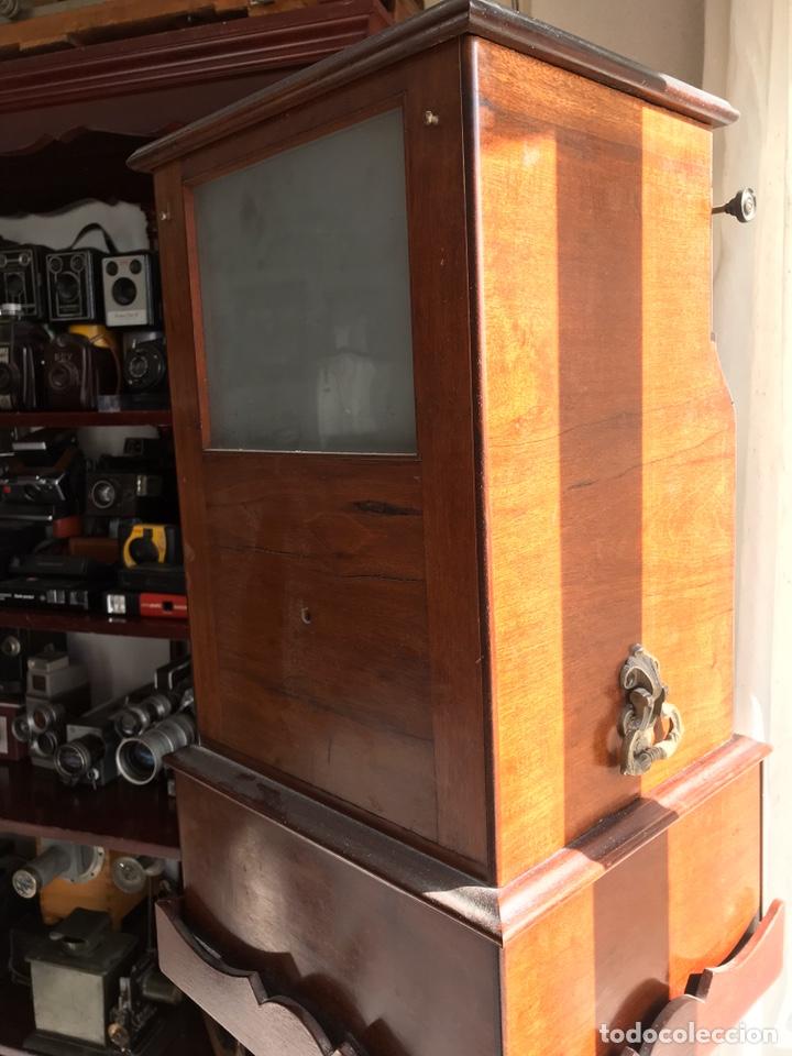 Antigüedades: Visor Estereoscopico con pie y placas de cristal auto classeur stereo 1900 - Foto 6 - 193271421