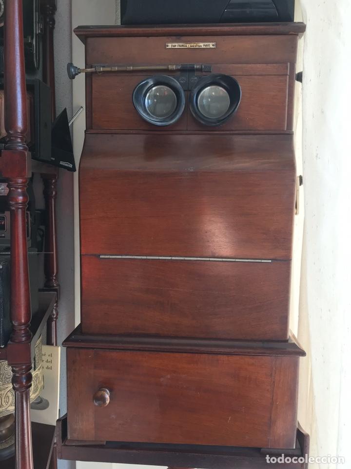 Antigüedades: Visor Estereoscopico con pie y placas de cristal auto classeur stereo 1900 - Foto 14 - 193271421