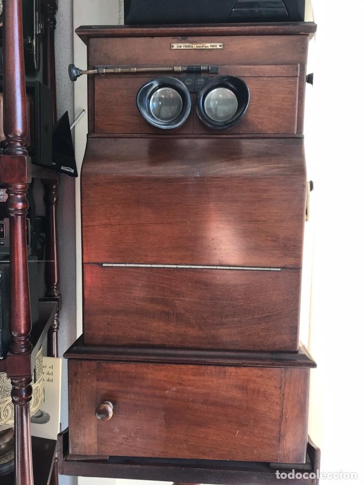 Antigüedades: Visor Estereoscopico con pie y placas de cristal auto classeur stereo 1900 - Foto 15 - 193271421