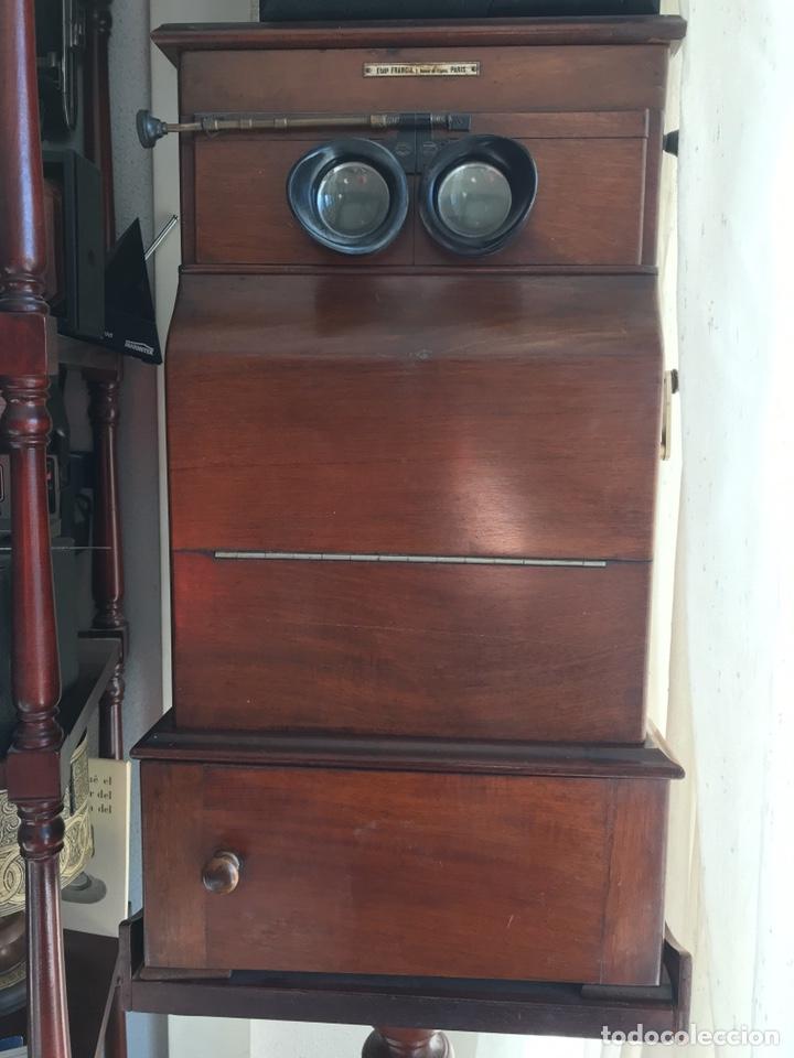 Antigüedades: Visor Estereoscopico con pie y placas de cristal auto classeur stereo 1900 - Foto 16 - 193271421